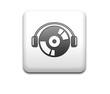 Boton cuadrado blanco simbolo audio