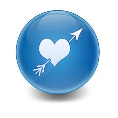 Esfera brillante simbolo amor