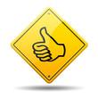 Señal amarilla simbolo OK