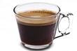 Taza de cafe transparente