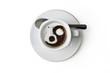 Taza de café ying yang