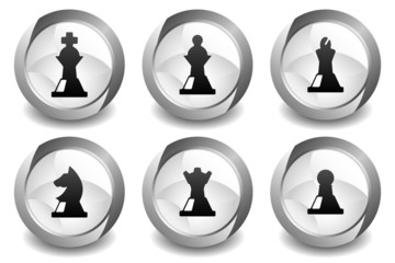 Chess White Button