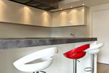 modern kitchen, very design , hight standing poster