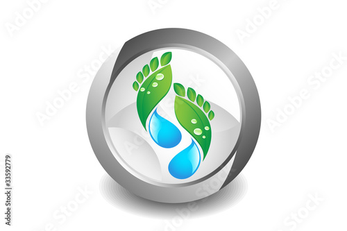 Eco Footprint Button