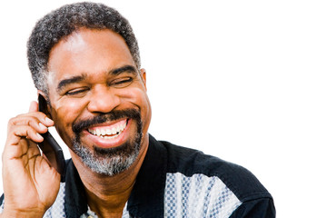 African American man talking on mobile