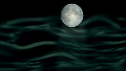 Mystic moon and sea, hd