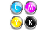 CMYK Color Button