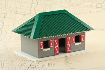 concept construction villa créole, plan de masse, situation