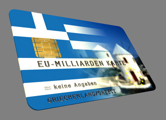 Griechenland EURO Kredit Karte