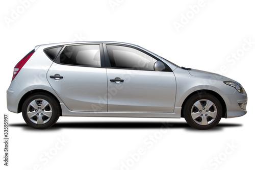 Srebrny samochód
