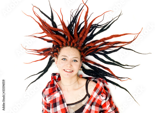 Woman with dreadlocks