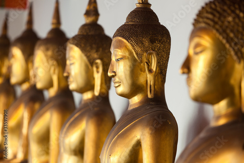 Naklejka bouddha pomnik Thaïlande