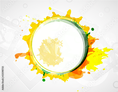 Abstract vector colorful shapes background
