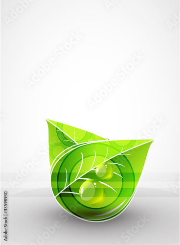 Grass and leaves vector summer background