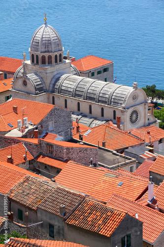 Sibenik city in Dalmatia, Croatia