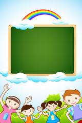 Kid with Chalkboard
