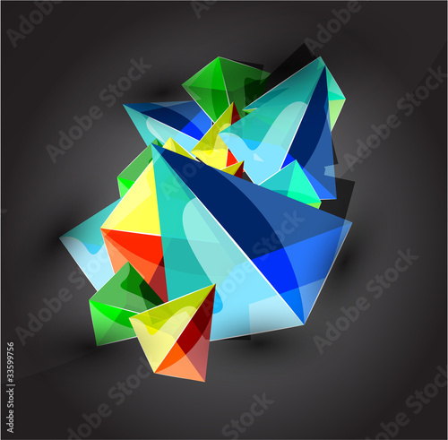 Glass transparent pyramid background
