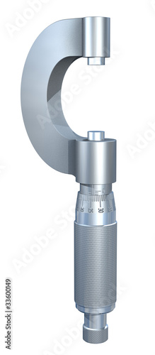 3D render of a micrometer on white background