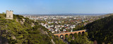 Panorama of Mödling (Austria) and his famous aqueduct