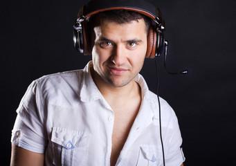 dj is in studio