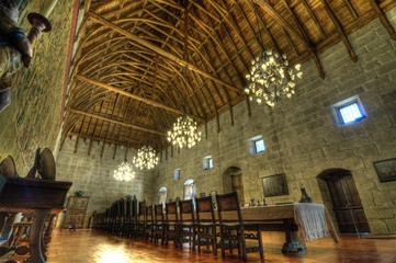 Banqueting Hall, Dukes Palace of Bragança, Guimarães.