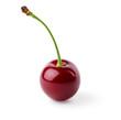 Single ripe cherry