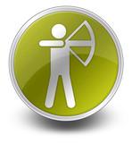 "Yellow Glossy Icon ""Archery"""