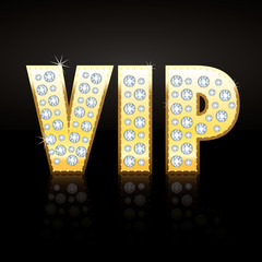 VIP Gold and Diamond 3D vector