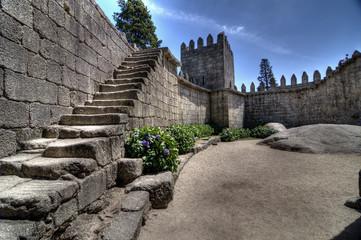 Guimarães Castle Steps, Portugal.