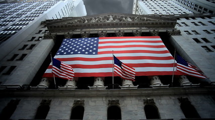 New York Stock Exchange (Gloomy Clouds Overhead)