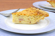 Close view quiche lorraine