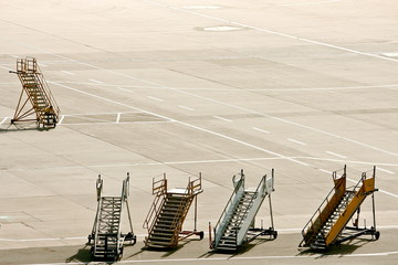 Gangways waiting for a plane