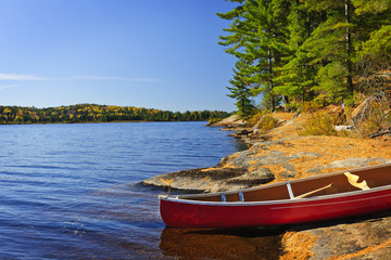 Canoe on shore