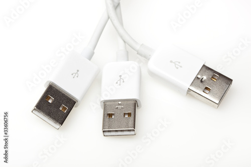 A white USB cable