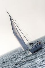 A white sailboat
