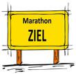 Ziel: Marathon-Lauf