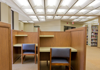 Study carrel in public library