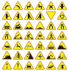 Znaki drogowe paczka (znaki ostrzegawcze)