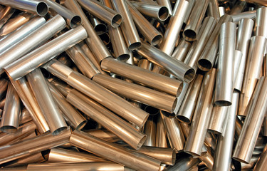cutted metal pipes