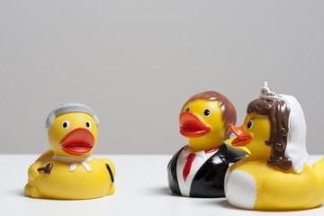 Ehepaar vorm Scheidungsrichter