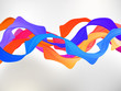 Abstract colored background with curves. EPS 8