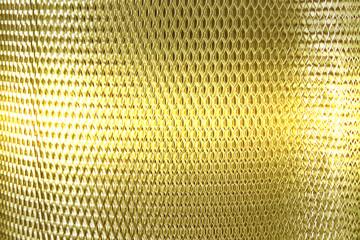 metal mesh grate gold