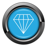 Picto, internet, bouton, bijou, diamant, pierre préciseuse poster