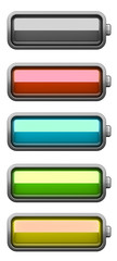 Set of Batteries at different charging status