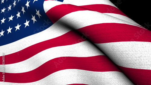 USA original Flag cloth texture 1920x1080