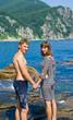 Young man and woman at sea 9
