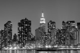 Fototapety New York City at Night Lights, Midtown Manhattan