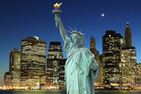 Manhattan Skyline and The Statue of Liberty, New York City - 33616157