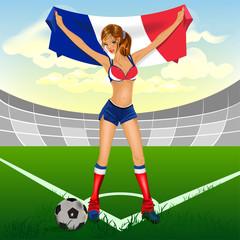 France girl soccer fan