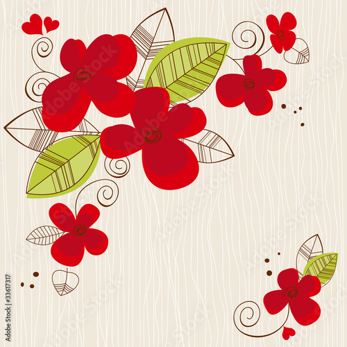 In de dag Abstract bloemen Vector floral background